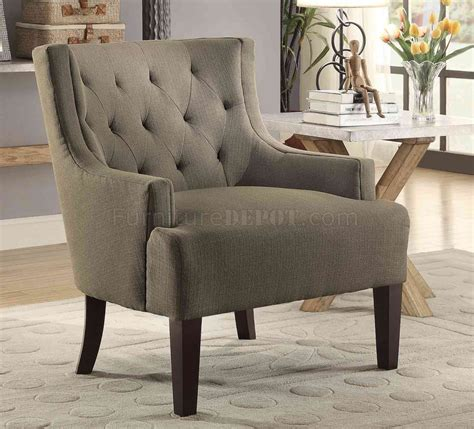 dulce accent chair 1233gy in grey fabric by homelegance