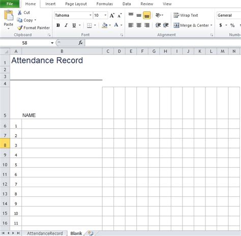 employee attendance sheet template excel tmp
