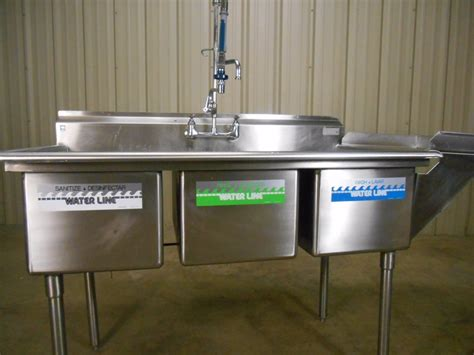 3 compartment sink sanitizer used 3 compartment stainless steel sink commercial