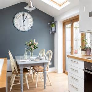 white kitchen with grey feature wall decorating with white housetohome co uk - Kitchen Feature Wall Paint Ideas