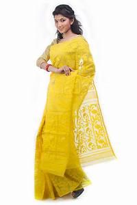 Exclusive Yellow Dhakai Jamdani Saree From Bangladesh