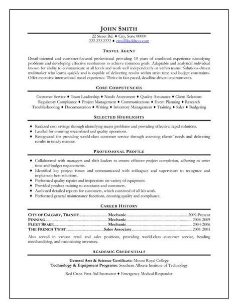 Travel Resume Sle click here to this travel resume template
