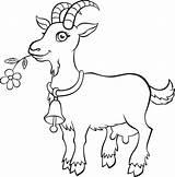 Goat Coloring Ziege Vector Animal Vektor Animals Ausmalen Goats Printable Wenig Niedlich Getdrawings Farm Agrarbetrieb Vectors Uddannelse Undervisning Skole Ba sketch template