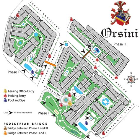 The Orsini  Site Map