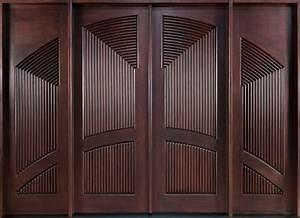 Modern Front Door - Custom - Double with 2 Sidelites