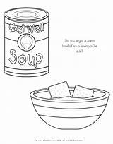 Pages Sick Coloring Soup Noodle Germs Kid Chicken Noodles Campbell Spreading Colouring Crystalandcomp Template Healthy Sheets Soups Projects Super sketch template