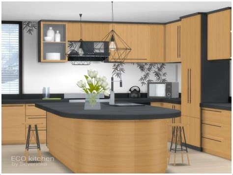 sims resource eco kitchen  severinka sims  downloads