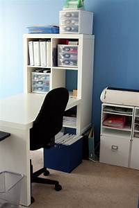 Workspace: Cool Home Office With Ikea Expedit Desk For ...