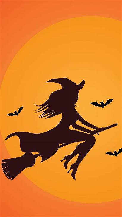 Witch Iphone Halloween Backgrounds Wallpapers Broom Plus