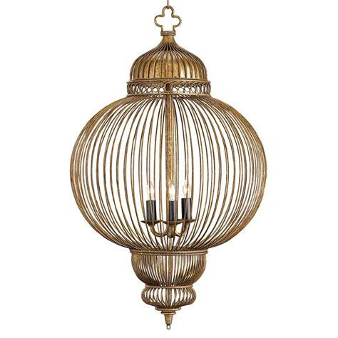 Antique Lantern Chandelier by Claydon Antique Gold Moroccan Style 3 Light Lantern Pendant