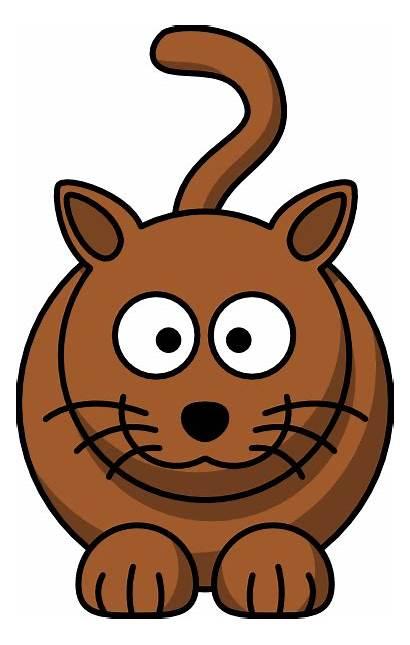 Cartoon Cat Clipart Clker Brown Fat Clip
