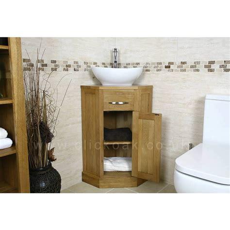 small compact oak bathroom vanity unit click oak