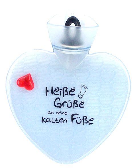 Heisse Grüsse kalte Füsse Bettflasche  Geschenk Online