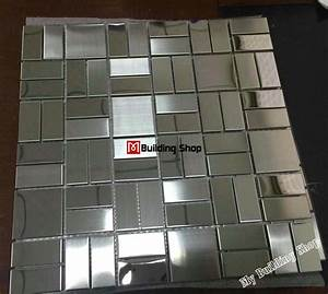 silver metal mosaic kitchen backsplash tile smmt088 With metallic mosaic bathroom tiles
