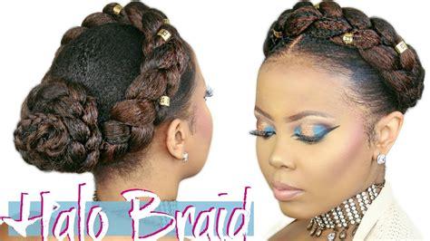 murrays pomade hair how to faux halo braid tutorial crown braid w kanekalon hair 4c natural hairstyle video