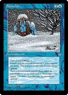 snowfall enchantment cards mtg salvation