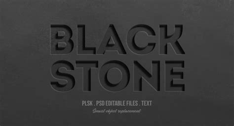 ✓ free for commercial use ✓ high quality images. Black stone 3d text style effect mockup PSD file | Premium ...