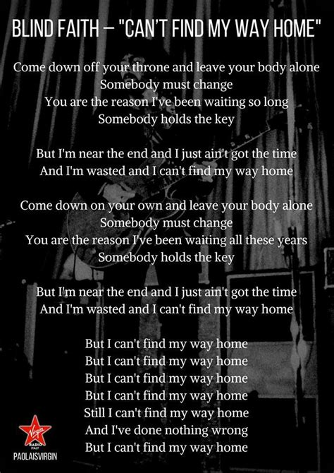blind faith  find   home lyrics   home
