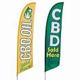 CBD Feather Flag   Vispronet
