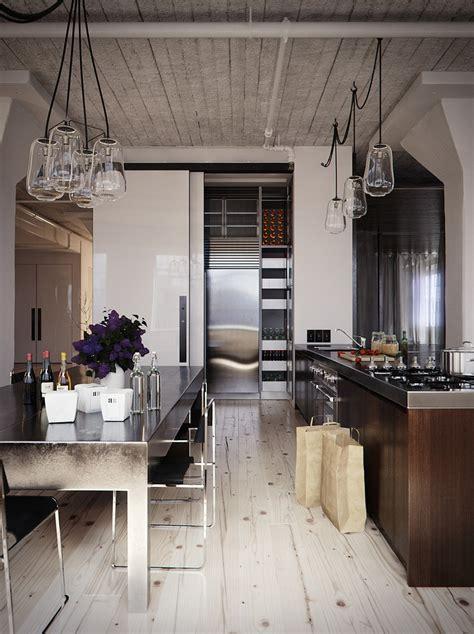 Wood Stainless Steel Kitchen Diner  Interior Design Ideas