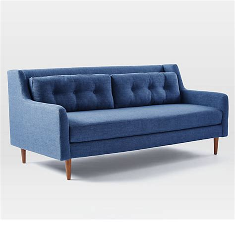 buy west elm crosby 3 seater sofa aegean blue john lewis