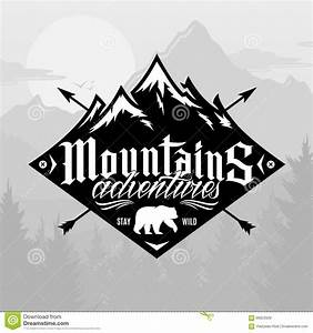 Vector Mountain And Outdoor Adventures Logo Stock Vector ...