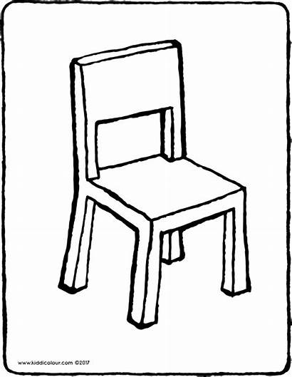 Chair Drawing Colouring Kiddicolour Colour Table Furniture