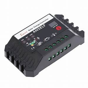 Anself 25a 12  24v Automatic Smart Solar Charge Controller