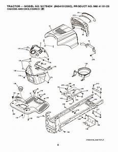 Weed Eater 96041012002 Lawn Tractor Parts List  2010