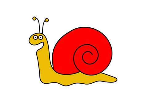 Snail Vector Cartoon Character