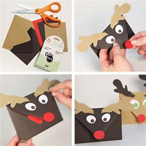 Sobres para las postales de Navidad una manualidad