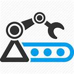 Icon Production Manufacturing Machine Icons Automatic Industry