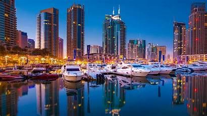 Dubai Marina Wallpapers Skyline Desktop Modern 4k