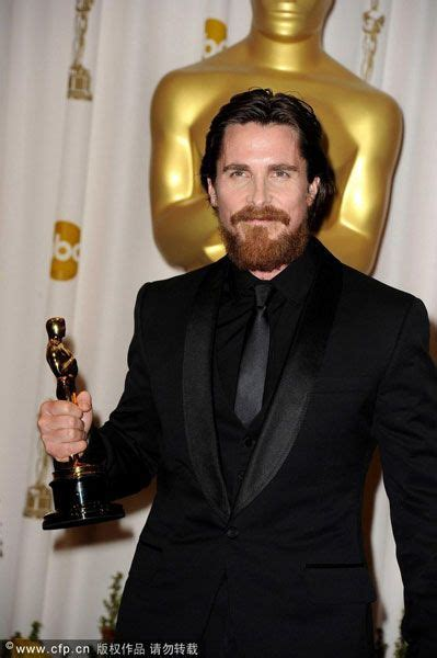 Christian Bale The Fighter Oscar Goes