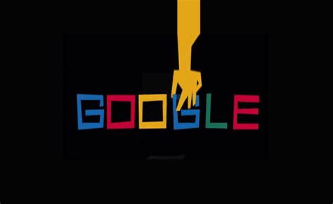 googles doodle tribute  graphic designer saul bass