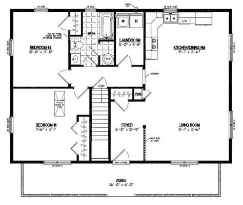 floor plan for a 28 x 36 cape cod house house plans