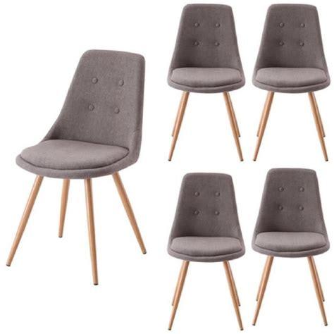 lot chaises salle à manger lot de 4 chaises salle à manger gris odessa achat vente chaise gris cdiscount
