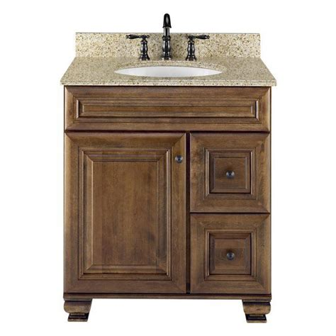 bathroom cabinets lowes allen roth 20j vsdb30 ballantyne 30 in x 21 in mocha