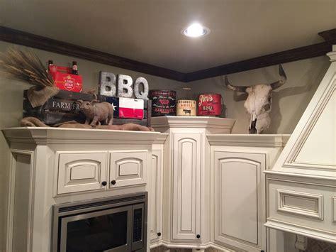 Above Kitchen Cabinets Decor. Texas Bbq Decor. Letters
