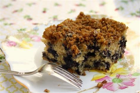 This will help them stay suspended in the cake batter during baking. Blueberry Crumb Coffee Cake