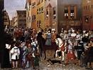 "Franz Pforr ""The Entry of Emperor Rudolf of Habsburg into ..."