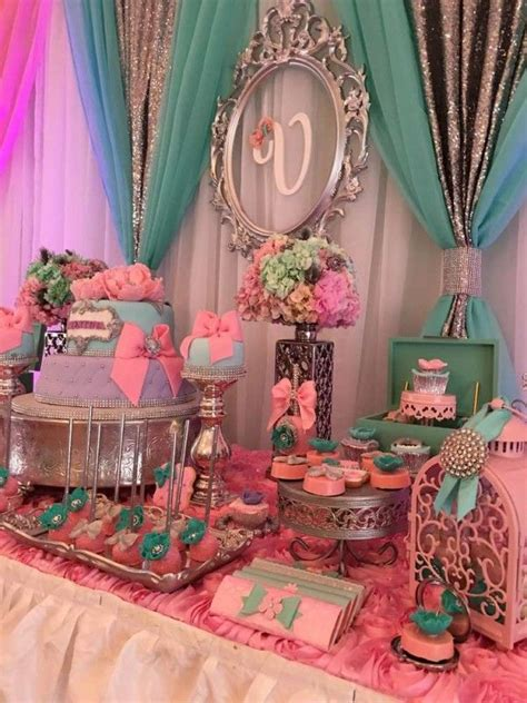 Teal And Pink Baby Shower Decorations by Teal And Pink Modern Chic Baby Shower Backdrop Frame