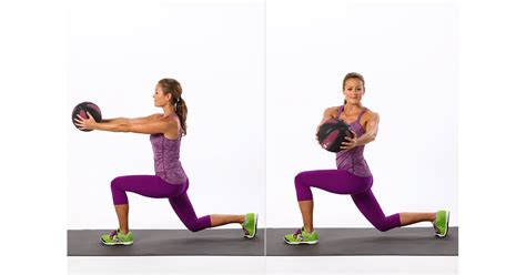 lunge twist reverse popsugar workout exercises weights torso ball hiit anna fitness variations