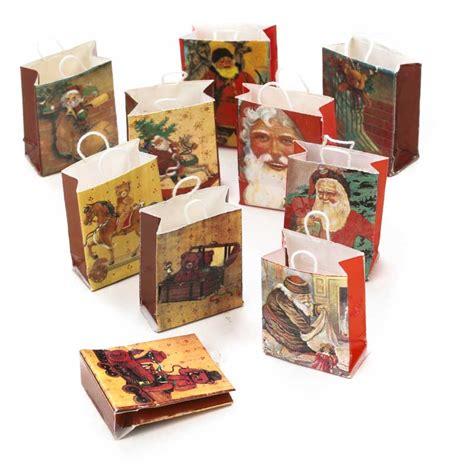 dollhouse miniature  world christmas gift bags