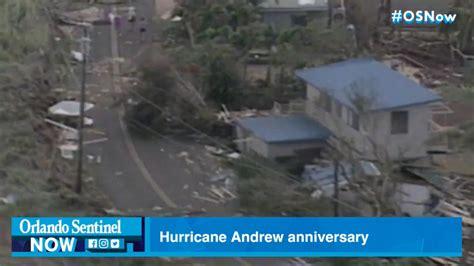 hurricane andrew   impacting florida  years