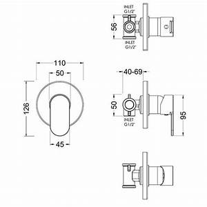 Asquiths Solitude Manual Concealed Shower Valve