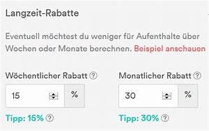 Rabatte Berechnen : langzeitmiete tips und tricks airbnb community ~ Themetempest.com Abrechnung