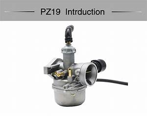 Pz19 Manual Operation Motorcycle Carburetor For 50cc  70cc