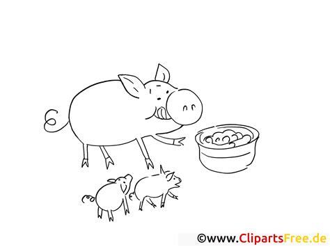 ausmalbilder kostenlos zum thema bauernhof schwein