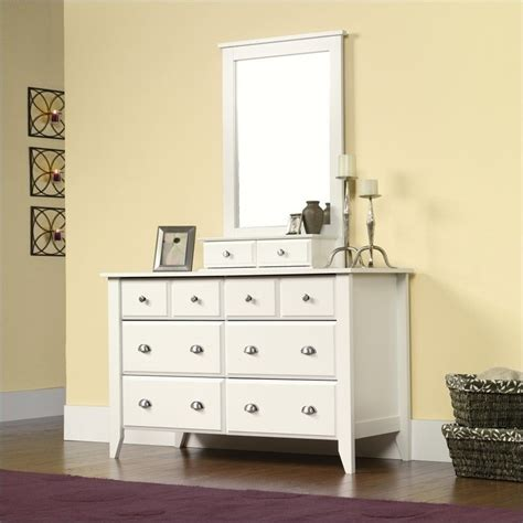 Sauder Shoal Creek Dresser Soft White by Features